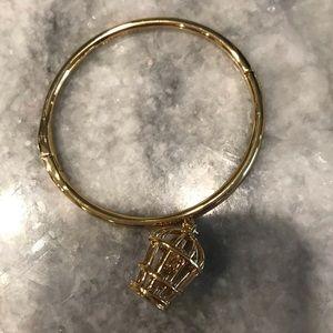 Kate Spade Caged Love Birds hinged bangle bracelet